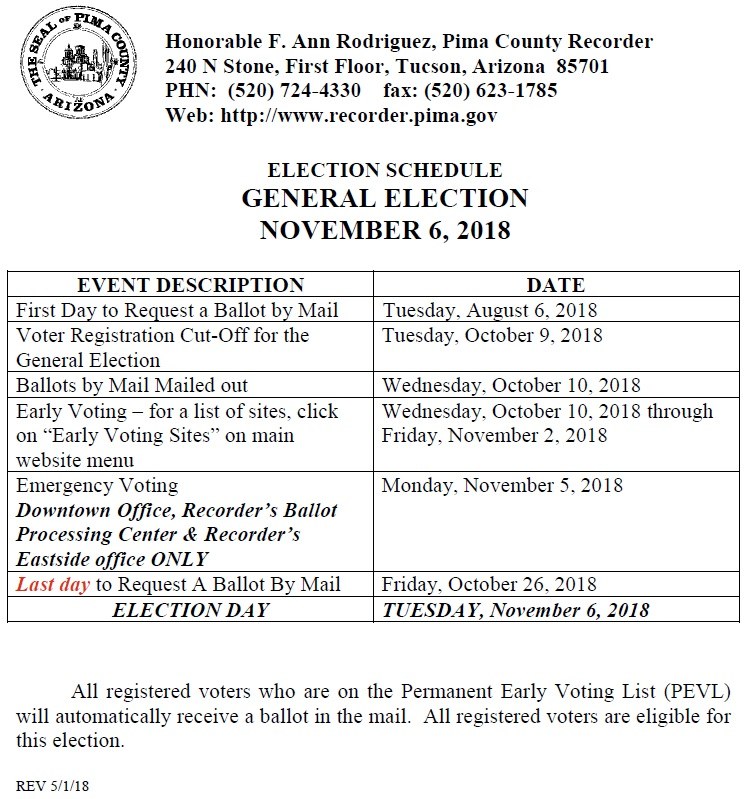 Election Schedule General Election